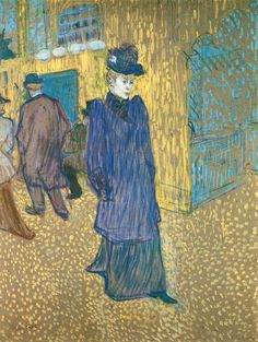 FB | The Red List. | Henri de Toulouse-Lautrec, Jane Avril Leaving the Moulin Rouge, 1893, Oil and gouache on cardboard, 84 x 63 cm, Wadsworth Atheneum, Hartford