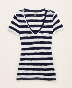 Aerie Lightweight Pocket Best T, Women's, Royal Blue/Navy Blue