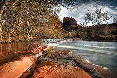 Sedona, Arizona.. would love to hike or kayak here.  :)