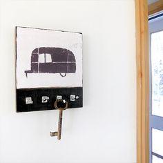 Key Holder Hooks AIRSTREAM trailer wall mount by redtilestudio, $48.00