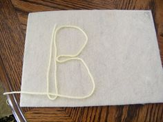 The Stay-at-Home-Mom Survival Guide: Preschool Activities- yarn letters on flannel board