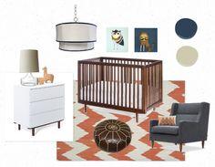 Mid century boy's nursery by Denise Briant Interiors