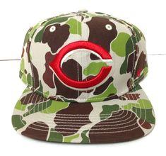 c9133ac2d2319 New CINCINNATI REDS CAMO SNAPBACK HAT Green Brown Military camouflage  Men Women  47Brand