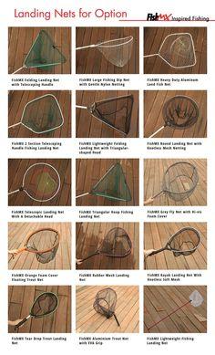 Regular Fishing Landing Nets for option. FishMX, Landing nets manufacturer.