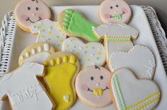 decorated baby cookies | baby shower cookies | Ellie's Bites Decorated Cookies
