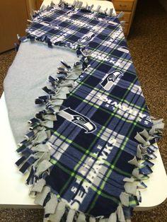 Seahawks tie blanket.