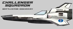 Battlestar Galactica/ NASA space shuttle crossover - the Challenger Viper Squadron of Battlestar Discovery (BSG)