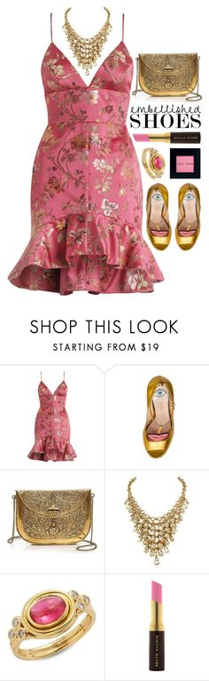 """~Magic Slippers: Embellished Shoes~"" by amethyst0818 ❤ liked on Polyvore featuring Zimmermann, Gucci, From St Xavier, Temple St. Clair, Kevyn Aucoin and Bobbi Brown Cosmetics"