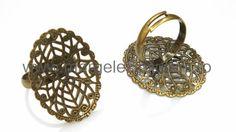 Baza inel cu platou filigranat oval bronz patiant 23 x 30 mm Magazine, Earrings, Jewelry, Fashion, Ear Rings, Moda, Stud Earrings, Jewlery, Jewerly