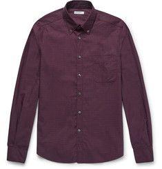 BoglioliSlim-Fit Button-Down Collar Checked Cotton Shirt