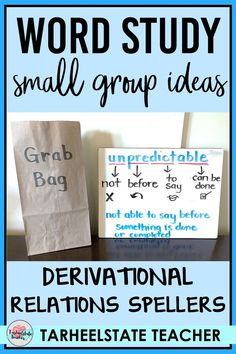 WORD STUDY SMALL GROUP | WORD STUDY TEACHER GROUP ACTIVITIES Wondering what to do within your word study small groups? These ideas are perfect for a word work or word study program using Words Their Way. Find ideas to make your word study small group activities for Derivational Relations spellers more fun and engaging and pick up some free words their way activities! Ideas for Derivational Relations Stage | Derivational Relations Activities Word Study Activities, Common Core Activities, Fun Classroom Activities, Spelling Activities, Vocabulary Activities, Group Activities, Vocabulary Instruction, Direct Instruction, Reading Activities