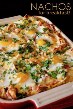 Breakfast nachos with eggs. Or a Nacho Casserole. Call it what you will, but could there be anything better! Chipotle Breakfast Nachos are topped with eggs and filled with smoky and rich, delicious Mexican flavors. Breakfast Nachos, Healthy Egg Breakfast, Mexican Breakfast Recipes, Breakfast Time, Brunch Recipes, Mexican Food Recipes, Healthy Recipes, Breakfast Dishes, Egg Recipes