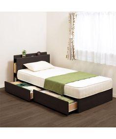 寝台が高すぎない浅め引出し付きセミダブルフレーム(カイト2 DBR アサヒキ25): ベッド - 【ニトリ】公式通販 家具・インテリア通販のニトリネット