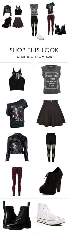 """""""cute outfits"""" by bring-me-the-sirenz on Polyvore featuring Posh Girl, Wildfox, New Look, R13, River Island, rag & bone, Dr. Martens and Converse"""