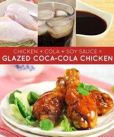Frango + Coca-Cola + molho de soja = frango com molho com Coca-Cola | 33 receitas geniais de apenas três ingredientes