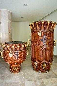 Ghanian Drums....beautiful & functional...