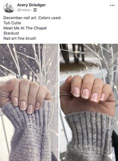 Beautiful enhanced French Manicure! #gelnails #gelmoment #christmasnails #christmasnailart #christmasnaildesigns #gelmomentfrenchmanicure #gelfrenchmanicure #frenchmanicure
