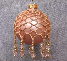 Beaded Christmas Ornament by LindysFancies on Etsy, $14.00