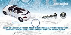 [S137]-VITE BM PLAST TESTA MEZZA TONDA FLANGIATA  CON IMPRONTA TORX - BM PLAST SCREW PAN HEAD WITH FLANGE WITH EXALOBULAR RECESS