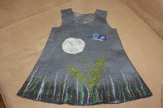 Одежда для девочек, ручной работы. валяный сарафан Одуванчик. KOCHULfelt. Ярмарка Мастеров. Шерсть, одуванчик, для дочки, тёплый войлок, бисер