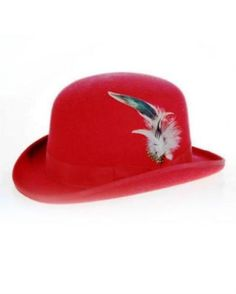 This  Men s  red  Derby  hat is finely  constructed felt hats will eb1422aa7d3