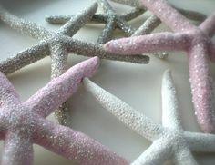 DIY glitter starfish