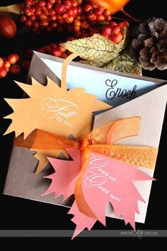 Printable fall love note {and fun ideas for a fall-themed gift basket}