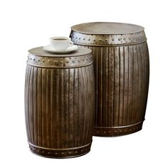 I pinned this C.G. Sparks 2 Piece Cask End Table Set from the Steampunk Lounge event at Joss and Main!