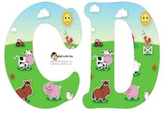 Alfabeto de la Granja. | Oh my Alfabetos! Farm Birthday, Animal Birthday, Birthday Party Themes, Alfabeto Animal, Farm Animal Party, Farm Unit, Alice In Wonderland Party, Animal Alphabet, Farm Theme