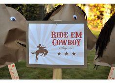 cowboy party-homemade horses