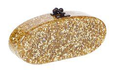 Edie Parker Edie Solid Handbag Clutch Gold Confetti
