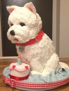 Westie dog cake