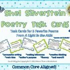 Great for poetry month or all year round! This is a set of 100 task cards for 5 poems from A Light in the Attic by Shel Silverstein. $$