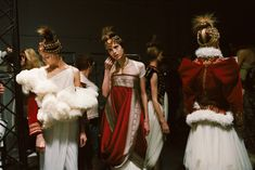 Backstage at Alexander McQueen Autumn/Winter 2008-2009, 'The Girl Who Lived in the Tree'.