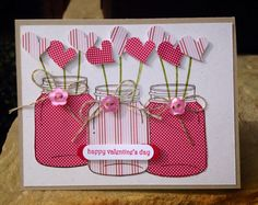This handmade valentine's card uses the Perfectly Preserved stamp set to display these lovely heart-shaped cake pops.  Coordinating pink papers are used for a cheerful card.