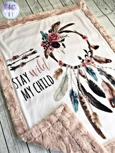 Dreamcatcher Minky Baby Blanket Crib Blanket Adult Blanket Twin Blanket - Oaklyn Baby Name - Ideas of Oaklyn Baby Name - Dreamcatcher Minky Baby Blanket Crib Blanket Adult Blanket Twin Blanket Deco Boheme, Minky Baby Blanket, Diy Baby Girl Blankets, Cute Blankets, Car Seat Blanket, Baby Shower, Girl Shower, Everything Baby, Girl Nursery