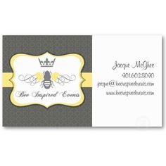 Bee Inspired Events Business Card