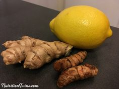 "Lemon Ginger Turmeric ""Detox"" Tea - Nutrition Twins"