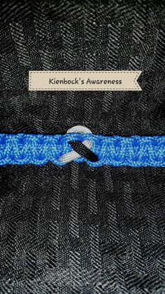 Silver and Black ribbon for Kienbock's Disease Awareness