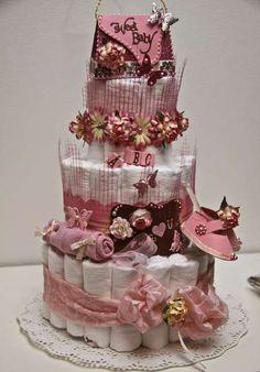 Babygirl diapercake
