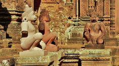 Banteay Srei,Siem Reap,Cambodia Siem Reap, Angkor, Cambodia, Medieval, Statue, Mid Century, Middle Ages, Sculpture