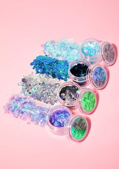 The Gypsy Shrine Glitter Gift Set cuz glitter makes your life better. This four pot glitter set 4 comes with Unicorn, Dark Unicorn, Chunky Silver and Chunky Mermaid to put wherever you desire bb!