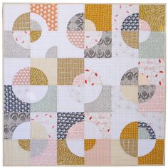 Umbrella Prints Flowers Collection and Drunkard's Path Variation Quilt