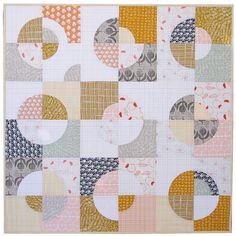 Umbrella Prints Flowers - Drunkard's Path Variation Quilt | Red Pepper Quilts 2015