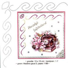 borduur rand Embroidery Cards, Embroidery Stitches, Embroidery Patterns, Hand Embroidery, Card Patterns, Stitch Patterns, Stitching On Paper, String Art Tutorials, Sewing Cards