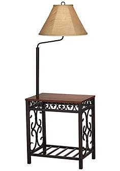 Superb Travata End Table Floor Lamp