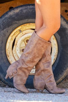 Weathering The Storm Boots - Taupe from Closet Candy Boutique