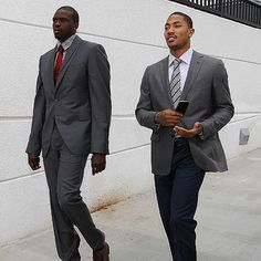 Slim fit #style with Luol Deng and Derrick Rose #NBA