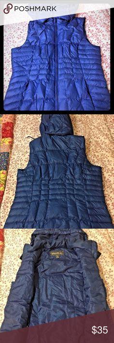 Selling this Eddie Bauer Goose Down Feather Vest w Hood XL on Poshmark! My username is: nriffe258. #shopmycloset #poshmark #fashion #shopping #style #forsale #Eddie Bauer #Jackets & Blazers