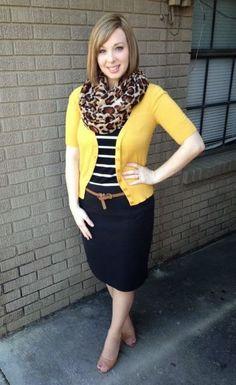Leopard + Stripes + Yellow + Tan +Black + White